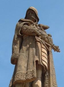 Statue of Jan Žižka in Tábor, Josef Strachovský (PD)